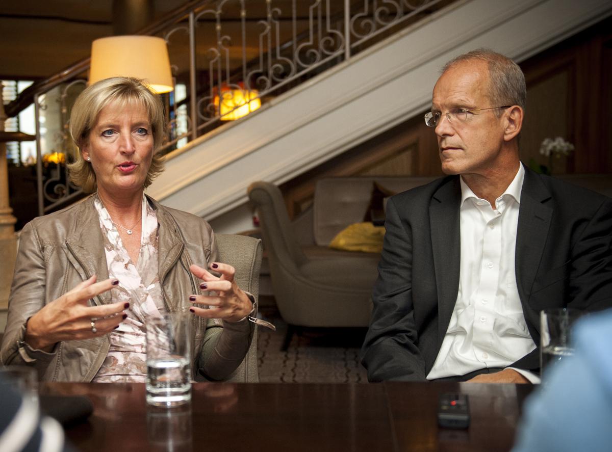 Interview mit Prof. Dr. med. Christiane Woopen und Dr. Christian Katzenmeier © pag, Fiolka